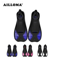 AILLOMA 2017 Design Professional Diving Fins Adult Outdoor Water Sports TPR Rubber Short Shoes Swimming Flipper For Snorkeling