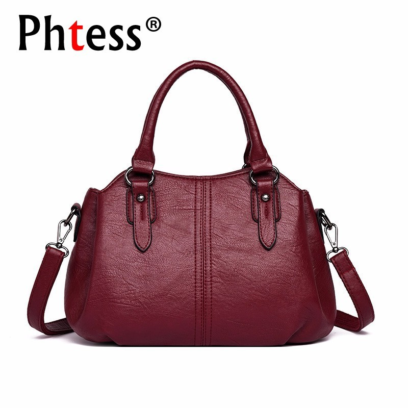 Luxury Handbags Women Bags Designer 2019 Female Tote Bags High Quality Sac A Main Female Leather Shoulder Bag Vintage Ladies NewLuxury Handbags Women Bags Designer 2019 Female Tote Bags High Quality Sac A Main Female Leather Shoulder Bag Vintage Ladies New