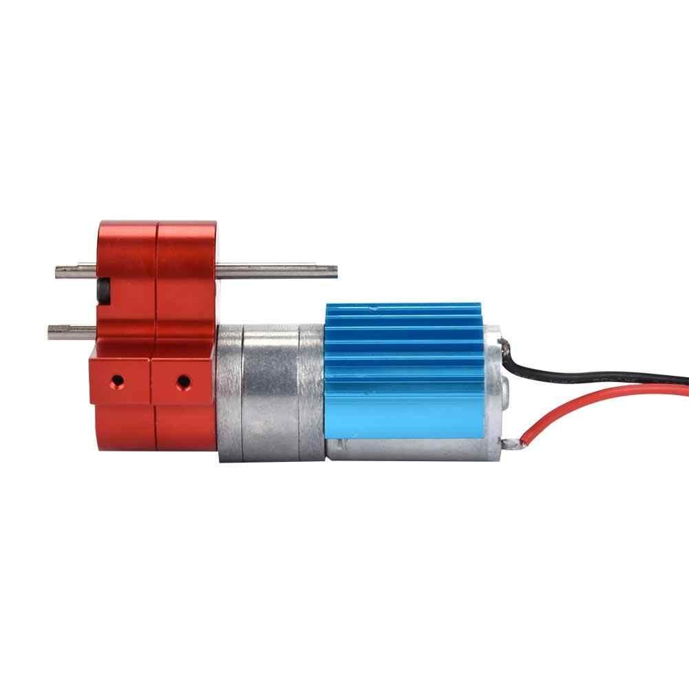 Caja de cambios de velocidad caja de cambios de Metal RC con Motor 370 común para WPL 1632 RC coche CNC mecanizado RC remoto control de parte del coche