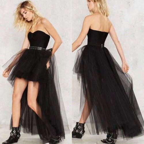2020 New Layers Princess Ballet Tutu Skirt Long Women Tulle Skirts Wedding Party Prom Ball Gown Skirt Black&White