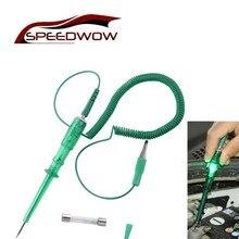 SPEEDWOW probador de circuito de luz de coche lámpara de voltaje DC 6V 12V 24V, pluma de prueba de cobre, sonda de Detector, lámpara de sonda de prueba de sistema de luz