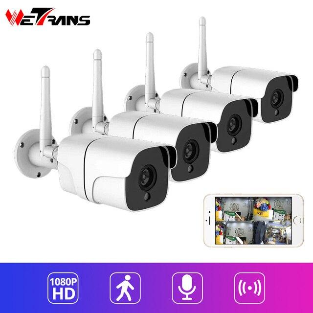 Wetrans камера видеонаблюдения Wi-Fi система видеонаблюдения 1080 P HD Беспроводная ip-камера пуля водостойкая наружная Аудио Сигнализация