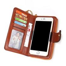 Купить с кэшбэком New Women Wallets Genuine Leather Long Ladies Zipper Bag Women Wallets With Phone Case Card Holder Coin Purse Carteira Feminina