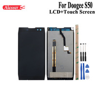 Alesser For Doogee S50 LCD Display and Touch Screen Assembly Repair Parts With Tools And Adhesive For Doogee S50 Mobile Phone