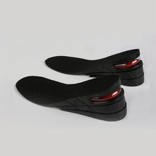 Height Increase Shoe Insoles Heel Lift 3-9cm Air Bubble Cushion Unisex Foot Care Tool цена и фото