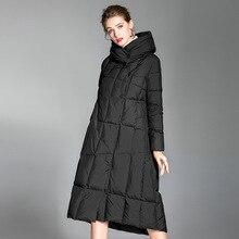 down jacket women large size 2018 winter stylish white duck oversize overknee womens coat 20186007