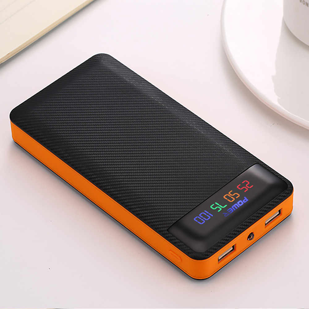 Power Bank 20000 MAh Powerbank 2 USB Eksternal Baterai untuk iPhone 6 6 S 7 8 10 Ipad Samsung xioami Huawei Sony LG HTC Nokia