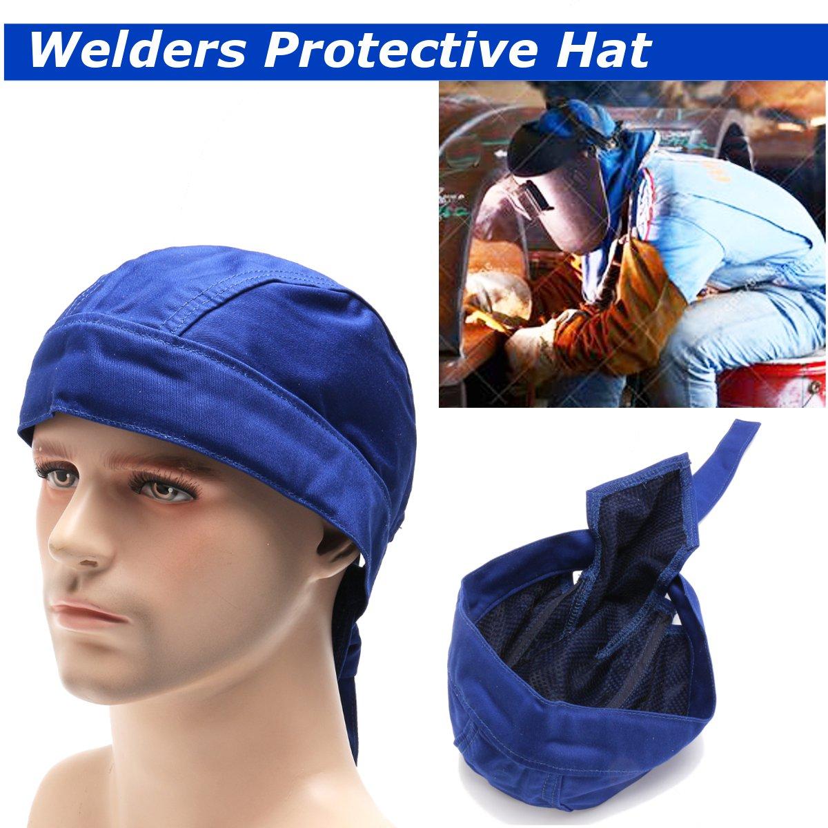 Welding Cap Welders Protective Hat Welding Helmet Cotton Cover Cap Scarf Wear Flame Retardant Fashion  Adjustable Bandana Type