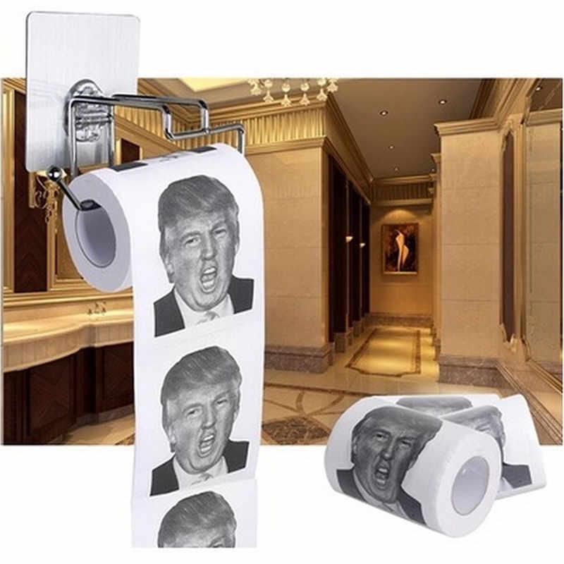 Дональд Трамп $100 доллар купюр туалетная бумага рулон Новинка смешной подарок самосвал Трамп портативная туалетная бумага использование держателями 1 рулон