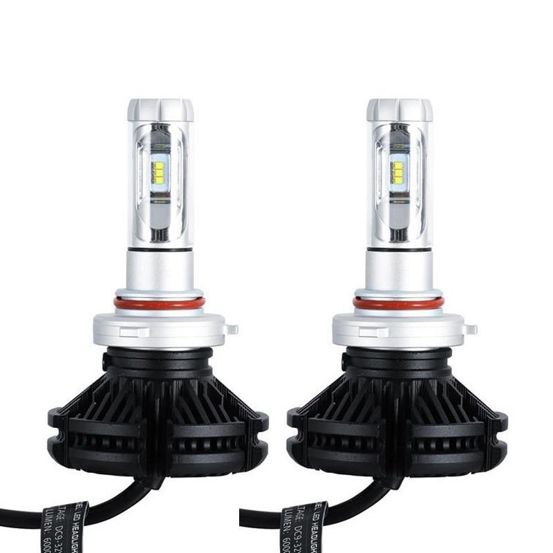 LARATH X3 H11 ampoules de phares LED H7 H4 H8 H3 9005 H1 50 W 6000LM/Set 4300 K 6000 K 8000 K ZES Chip tout en un feux de croisement