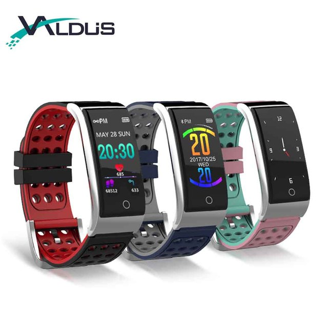 ECG PPG Smart Bracelet Fitness Tracker IP67 Waterproof Smart Watch Blood Pressure Blood Oxygen Monitor Wristband E08