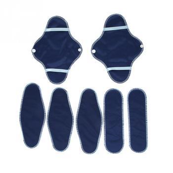 8 sztuk zestaw kobiet wielokrotnego użytku z możliwością prania podpaski zestaw wodoodporna tkaniny sanitarne liniowej Mama sanitarne majtki do higieny intymnej w tanie i dobre opinie TMISHION CN (pochodzenie) Cotton + Cloth 8PCs Kits Menstrual Sanitary Pad