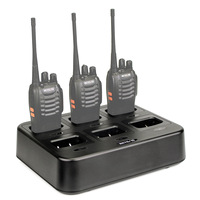 Retevis RTC777 6 Way Multi Unit Charger for Retevis H777 for Baofeng 888S BF 666S BF 777S Walkie Talkie Accessories 5V 4A 4.2V