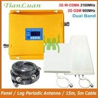 TianLuan ЖК дисплей Дисплей 3g W CDMA 2100 мГц + 2G GSM 900 МГц двухдиапазонный мобильный телефон усилитель сигнала GSM 900 2100 UMTS репитер
