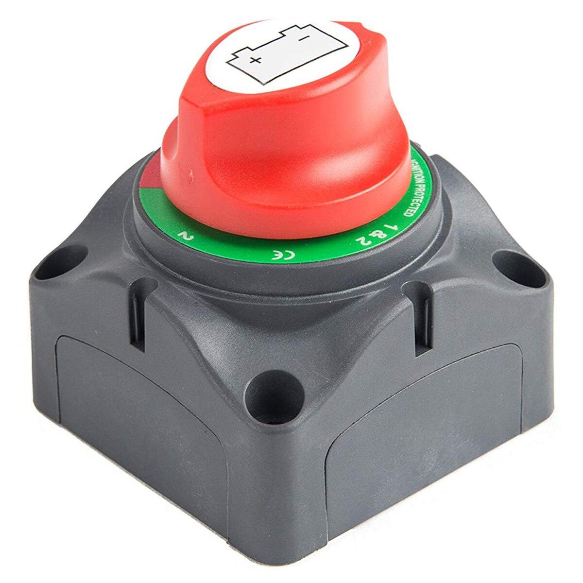 Posição 3 Interruptor Mestre Disconnect Isolador, 12-60 V Energia Da Bateria Cut Off Kill Switch, apto para o Carro/Veículo/RV/Barco/Marine, 20