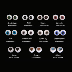 Doll BJD Eyes Eyeball Size 1/3 1/4 1/6 1/8 yosd SD MSD Light Grey Dark Green black brown Redpurple Smoky 6 8 10 12 14 16 18m(China)