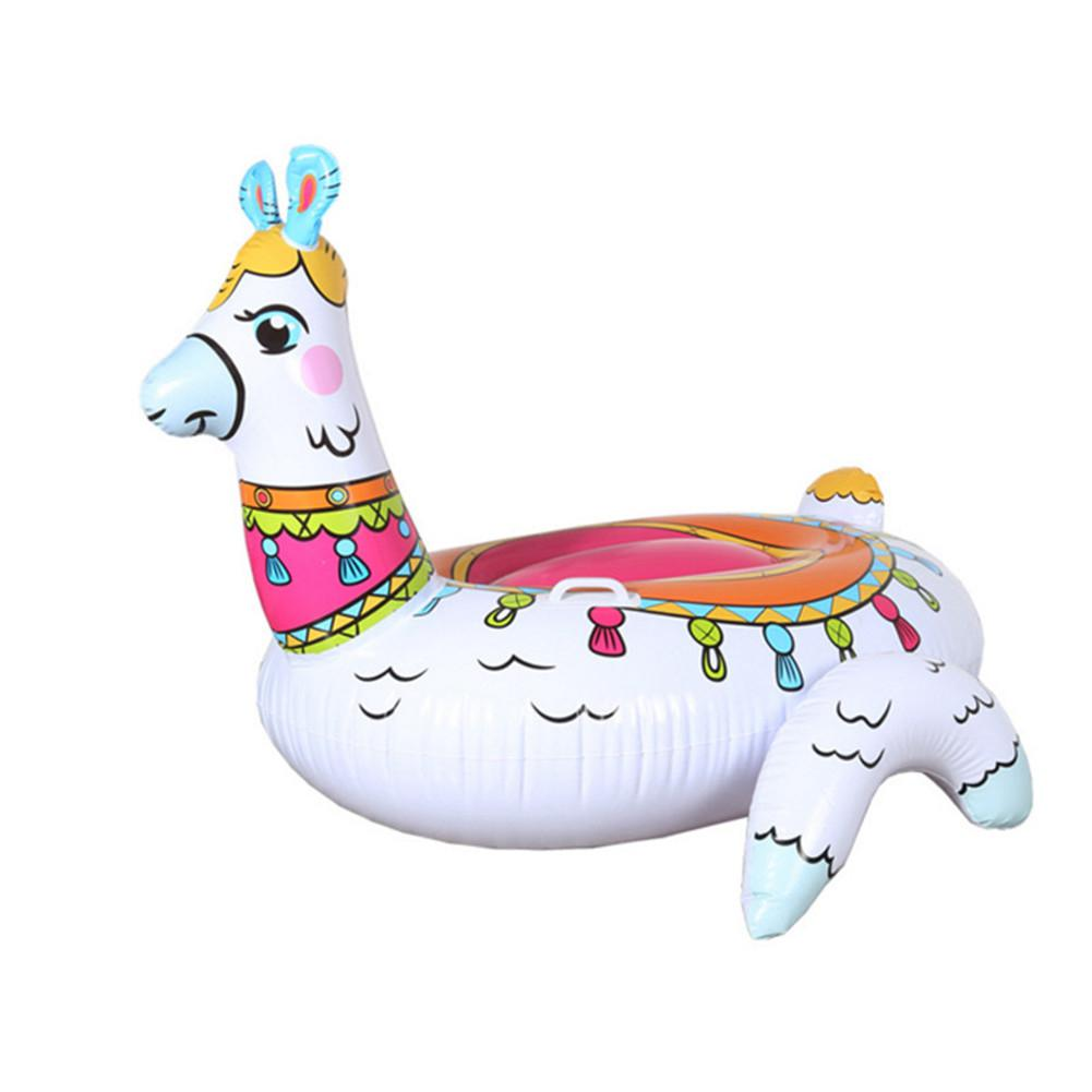 Kidlove Summer Inflatable Alpaca Shape Floating Row For Adults Pool Party Photo Props
