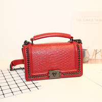 Luxury Genuine Leather Chain Handbags Women's Designer Handbag Snake Big Lattice Lock Shopping Large Bags Tote Shoulder Bags