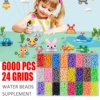 8000pcs Multicolor Magic Puzzle Toys Water Mist Bead Set DIY Craft Animal Handmade Sticky Beads Educational Toys Kids Good Gifts flash sale