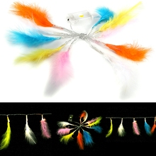 1.2m 10LED Colorful Feather String Light Lamp For Home Wedding Decoration Led Lights Warm