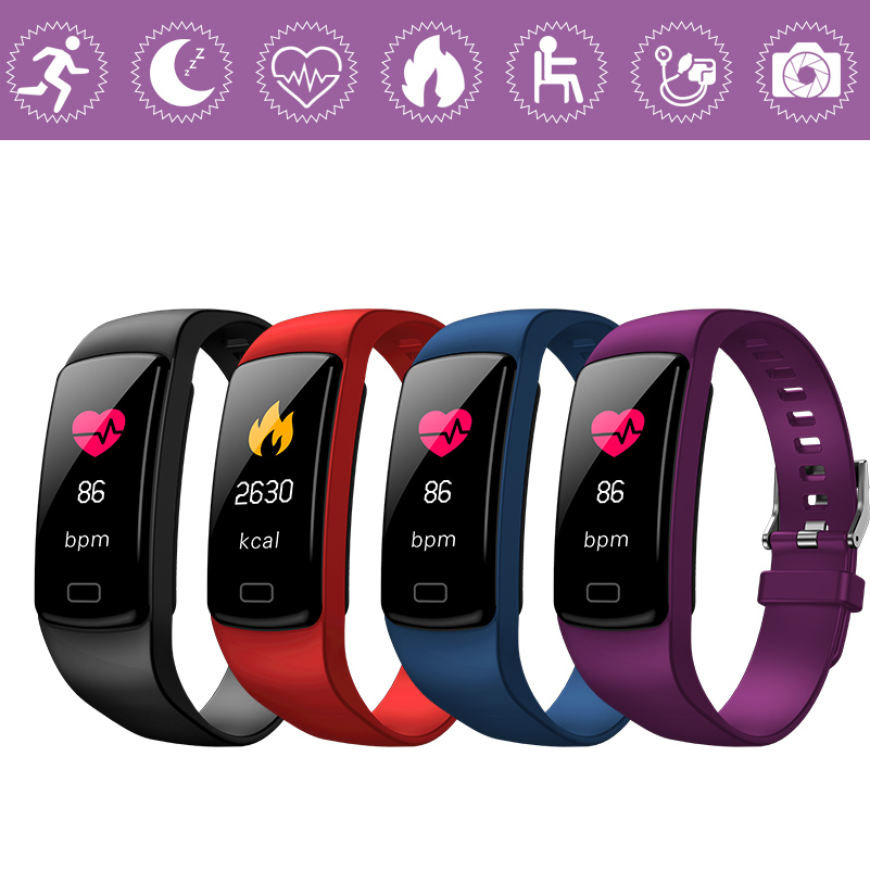 GZDL Unisex Smart Watch Activity Fitness Tracker Heart Rate Monitor Bluetooth Wristband For iOS Android Phone WT8355
