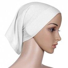 Женский исламский хиджаб шапка шарф шапка труба повязка на голову красочная головная повязка