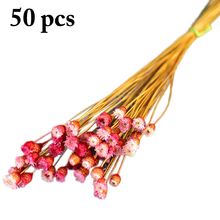 50Pcs Dry Flower Bouquet Natural Decorative Preserved Home Decoration Supplies Wedding Arrangement