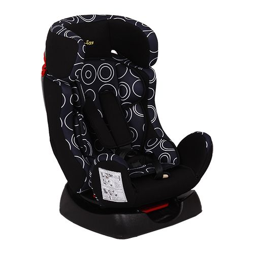 Car Seat FOOD-GRADE FOOD KS-719 Black with rings, 0-25 kg, with liner car seat food grade food ks 516 lux graffiti gray 9 36 kg with liner