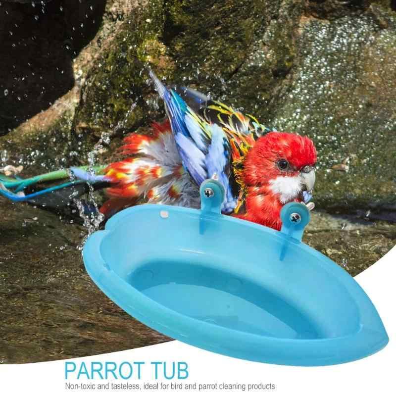 Pet клетка аксессуары Птица Попугай ванна с зеркало, ванна для вечеринки коробка Малый клетка для попугая птиц игрушки
