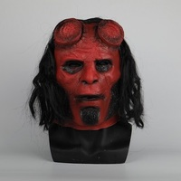 Hellboy Mask Latex Masquerade Carnival Costume Masks Hood Cosplay Mask Halloween Party Prop