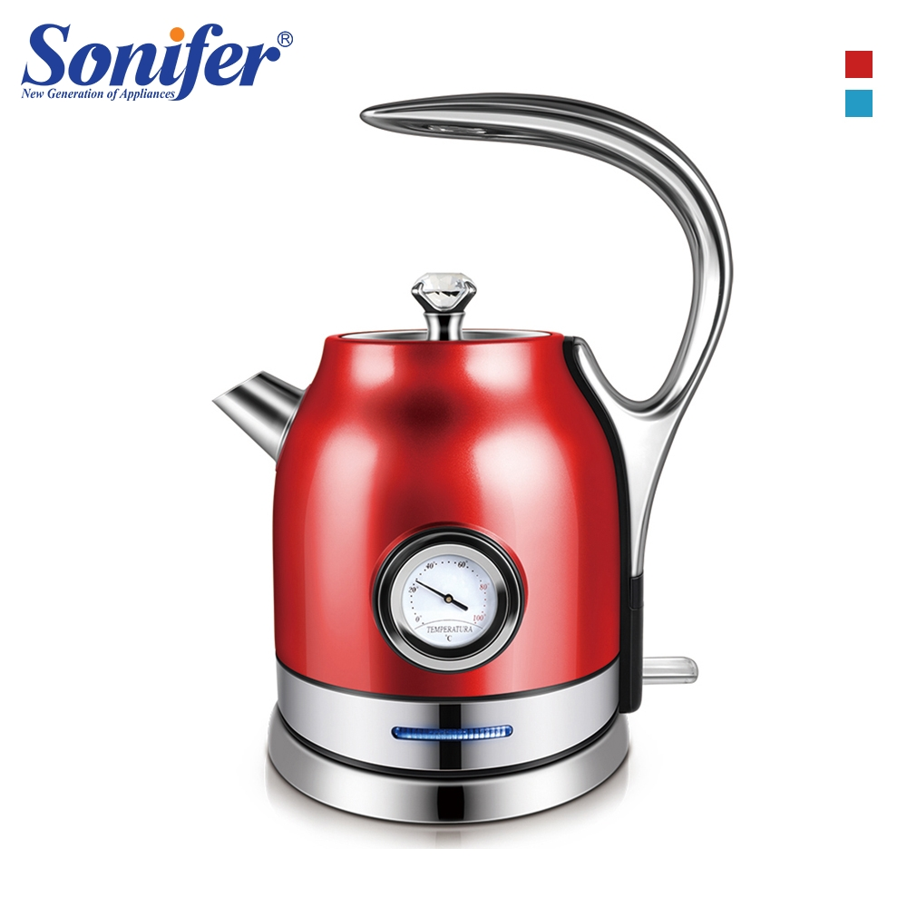 1.8L Colorful 304 Stainless Electric Kettle With Temperature Control Meter Kitchen Quick Heating Electric Boiler Tea Pot Sonifer