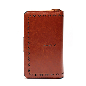 Image 3 - Женский кошелек, деловой клатч из натуральной кожи, съемный браслет кошелек, скользящая многофункциональная сумка с зажимом для телефона