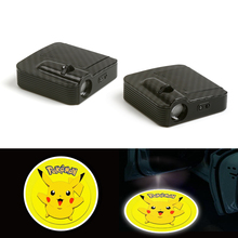 Courtesy Fit For Pokemon Pikachu Animal Car Logo Door Ghost Shadow Laser Projector Light 12V цена