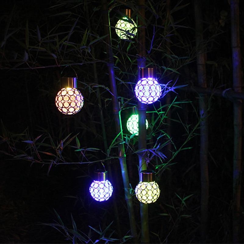 Aliexpress Com Buy 1pcs Solar Ball Hanging Led Lamp