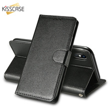 KISSCASE Luxury Wallet Stand Case For iPhone 5 5S SE 6 6S 7 8 Plus X XR XS Max Leather Flip Business Phone Cover Funda Capinha
