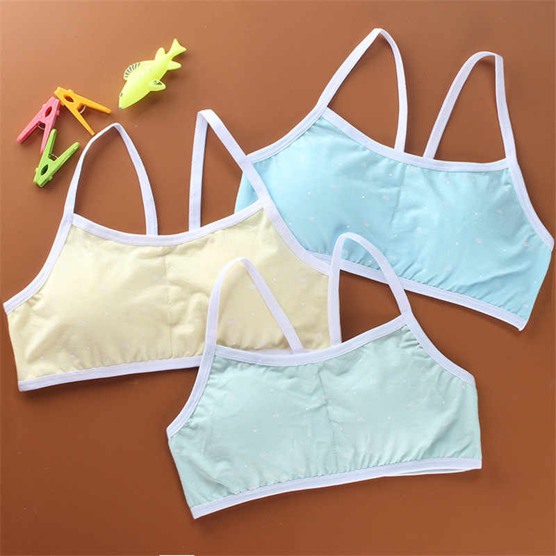 dc6c17f4ba Baby Kids Bras Girls Underwear Clothes For Young Girls Women Sport Wireless  Small Training Puberty Bras