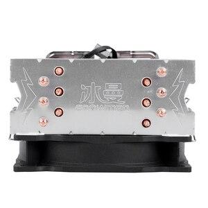 Image 4 - SNOWMAN 4PIN CPU cooler 6 heatpipe Single fan cooling 12cm fan LGA775 1151 115x 1366 support Intel AMD