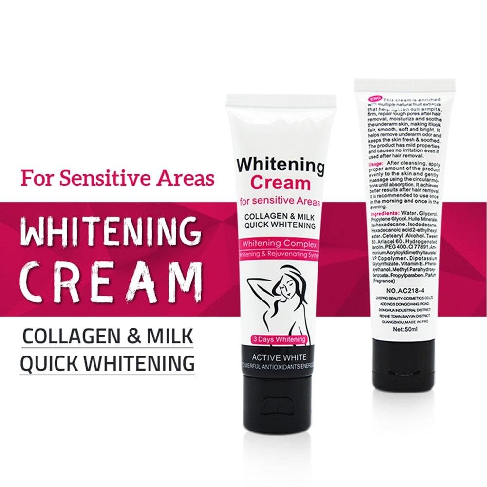 Armpit Whitening Cream Skin Lightening Bleaching Cream For Underarm Dark Skin Legs Knees Whitening Intimate Body Lotion TSLM1