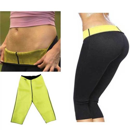 Women Ladies Leggings Skinny Fashion Hot Neoprene 3/4 Slimming Pants Sweating Sauna Suit Waist Elastic