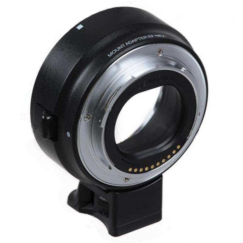 Black Auto Mount Adapter EF-NEX for Sony NEX Series Cameras EF EF-S Mount Automatic lens transfer ringBlack Auto Mount Adapter EF-NEX for Sony NEX Series Cameras EF EF-S Mount Automatic lens transfer ring