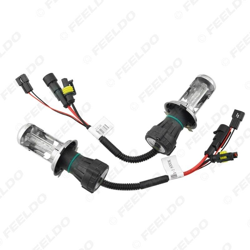 FEELDO 1 satz Auto Scheinwerfer AC 12 v 55 watt H4 HID Xenon Birne Hallo/Lo Strahl Bi xenon Lampe Licht Dünne Drossel HID Kit # AM4485 - 6