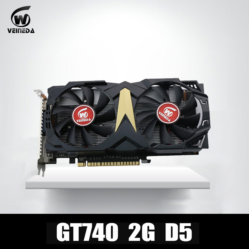 купить VEINEDA Video Card Original New Graphic Card GT740 2GB GDDR5 128BIT for nVIDIA Geforce Games онлайн