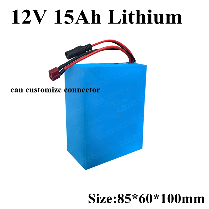12V Lithium Ion Battery Pack 12V 15Ah Small Size for Golf Trolly 12v 100w Car Camera