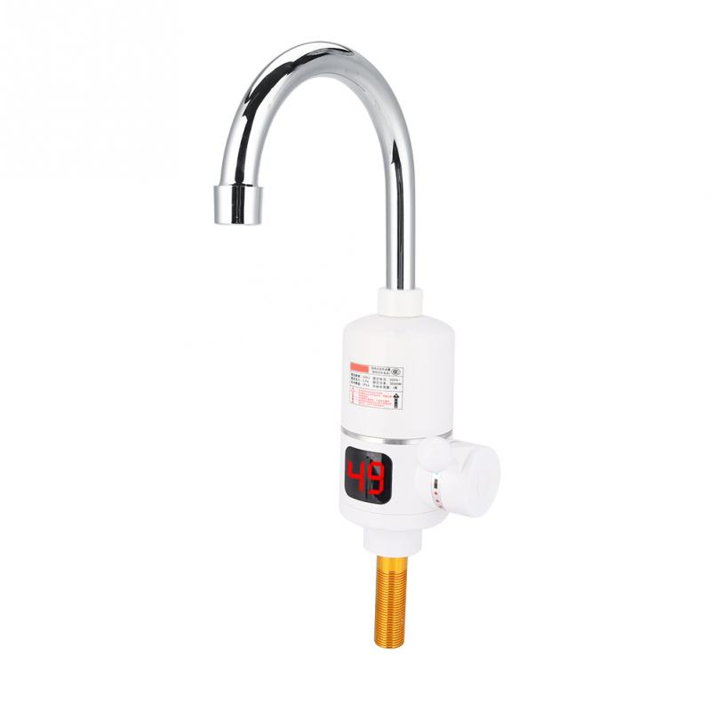 220v 3000w kitchen instant electric heating faucet digital display water heater 360 degree