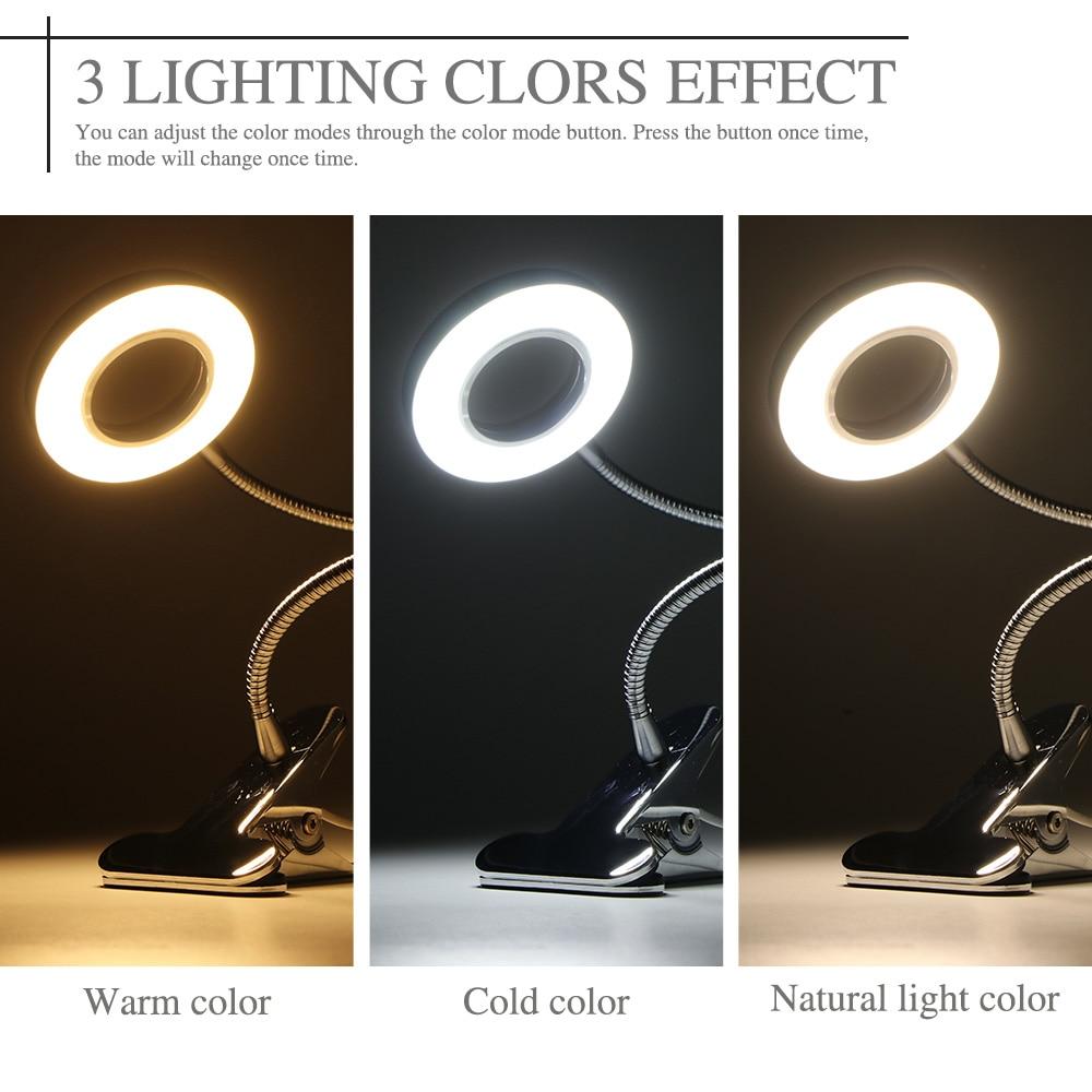 Usb Led Tafellamp Clip Tattoo Licht Permanente Wenkbrauw Manicure Bureaulamp Beauty Tools Voor Nail Make Slaapkamer Nuttig