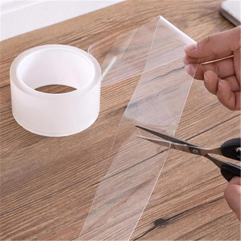 2/3/5cm Bathroom Kitchen Mildewproof Waterproof Acrylic Transparent Tape Sink Gap Toilet Corner Line Seal Strip Sticker