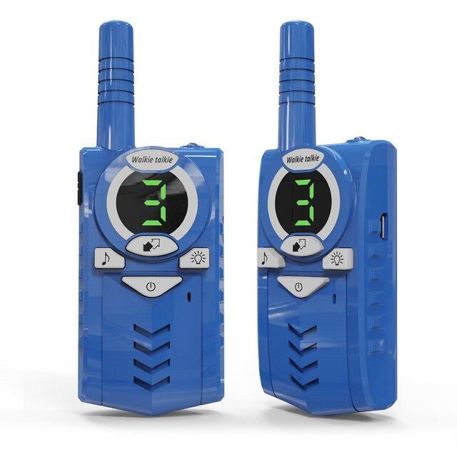 2 pçs/lote T6 Walkie talkie rádio em Dois sentidos de carga USB para mochileiros