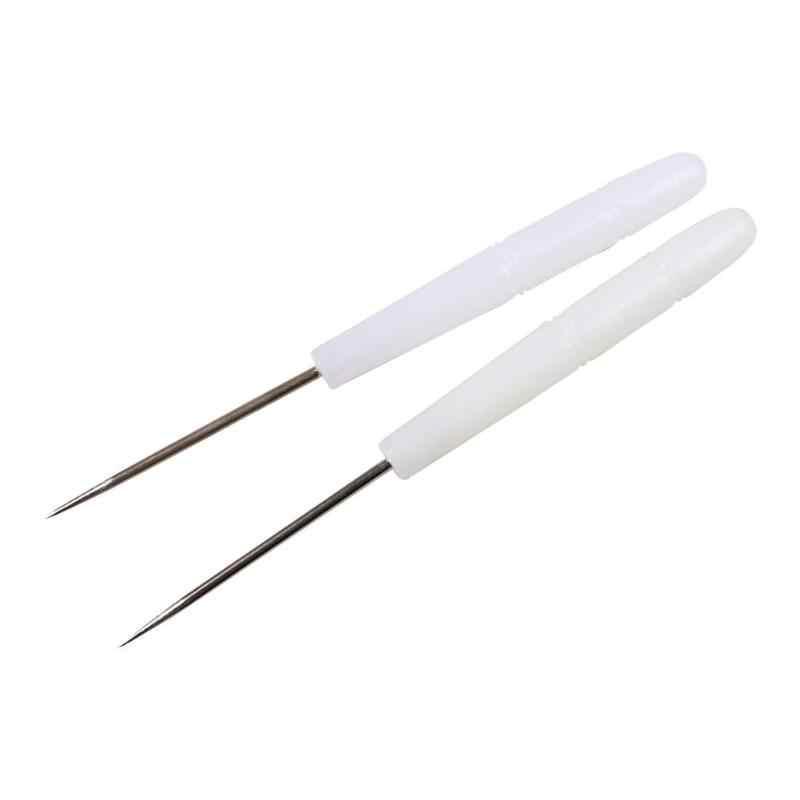 Пластик ручка ручной работы DIY кожевенное ремесло крючок для вязания шило Вышивание обувь ремонт инструмент для изготовления бумаги марок/кожа маркировки