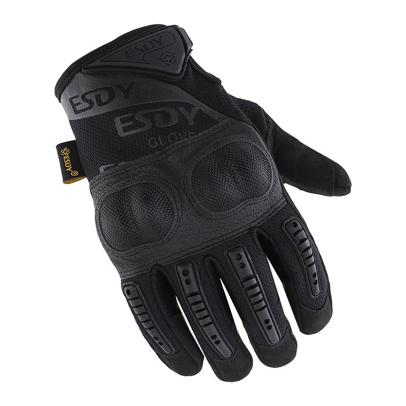 2018 ESDY Sports Tactical Gloves For Hiking Riding Cyling Mens Military Gloves Armor Protection Shell Full Finger Gloves M-XL