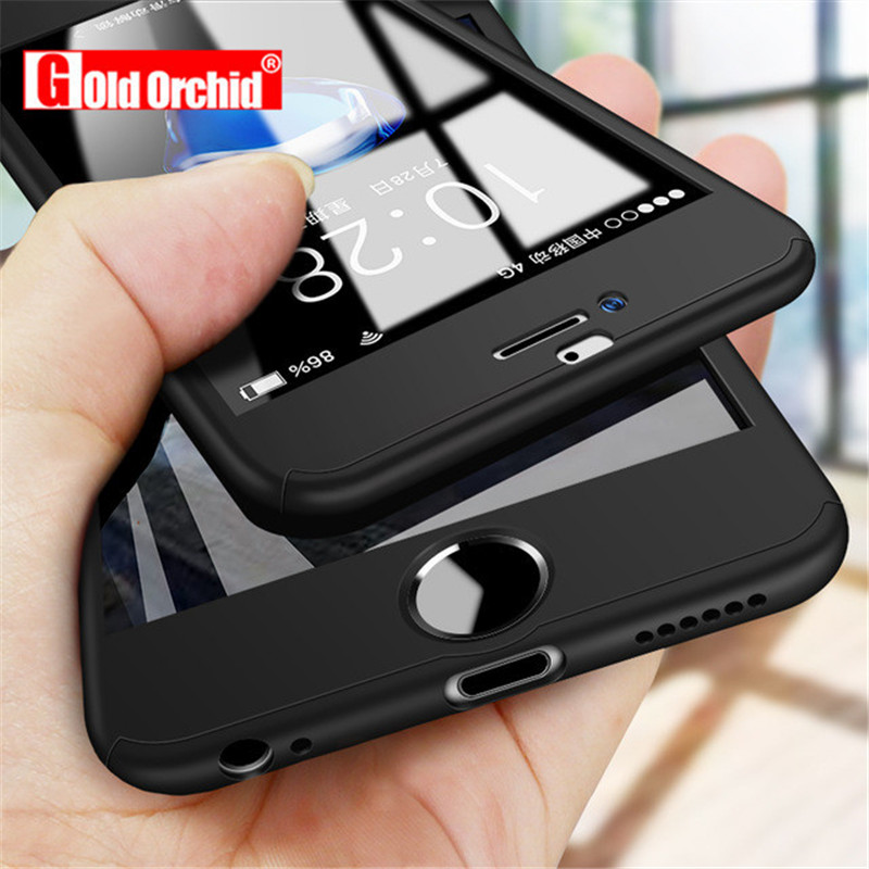 0276402f4e2 360 funda completa de teléfono para iPhone 6 6X8 s 7 Plus 5 5S SE funda  protectora de PC funda para iPhone 7 8 Plus con vidrio ~ Best Seller July  2019